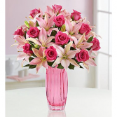 Magnificent Pink Rose & Lily's Bouquet
