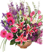 Magnificent Magenta Flower Arrangement
