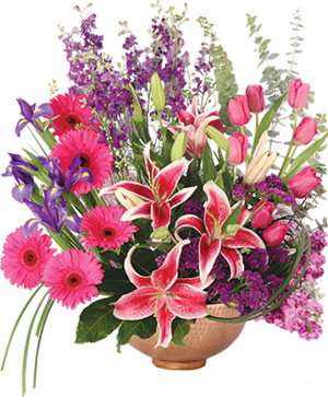 Magnificent Magenta Flower Arrangement in Moore, OK | A New Beginning Florist