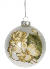 Magnolia Glass Christmas Ornament Gift Item