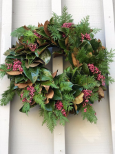 Magnolia Holiday Wreath 26 Inch in Length (Preorder)