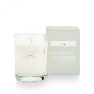 Magnolia Home by Joanna Gaines Love Boxed Glass Candle