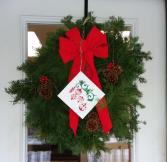 Maine Balsam Fir,Cedar and Pine Wreath Holiday Decoration