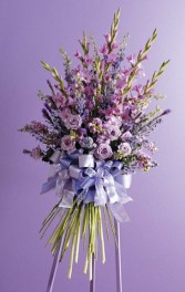 Majestic and Royal Purples Standing Spray Sympathy flowers