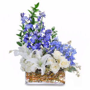 Majestic Blue Centerpiece in Fort Smith, AR | EXPRESSIONS FLOWERS, LLC