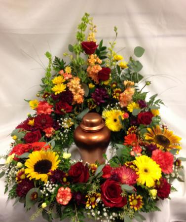 Majestic Garden urn surround Funeral Urn Flowers
