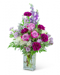 Majestic Garden Vase Flower Arrangement