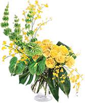 Majestic Golden Sunrise Flower Arrangement