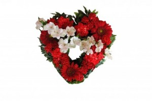 MAJESTIC HEART Casket Flowers in Deming, NM | THARP'S FLOWERS