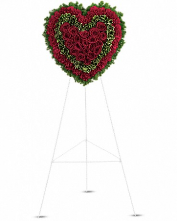 Majestic Heart Funeral Wreath
