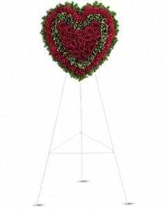 Majestic Heart Sympathy Arrangement in Jasper, TX | BOBBIE'S BOKAY FLORIST