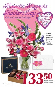 Majestic Magenta Mother's Day Value Combo Gift Set ~ Local Delivery Only