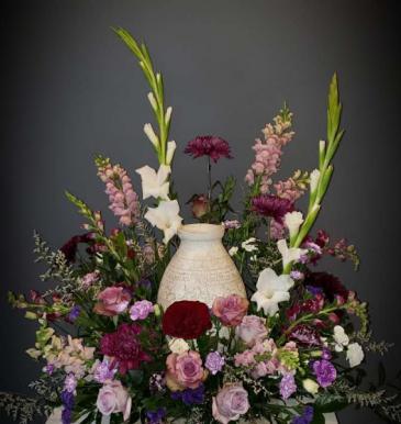Majestic Purple Urn Wreath