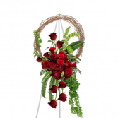Majestic Sentiments Curly Willow Standing Wreath