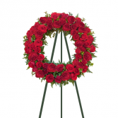 Majestic Tribute Red Rose Standing Wreath