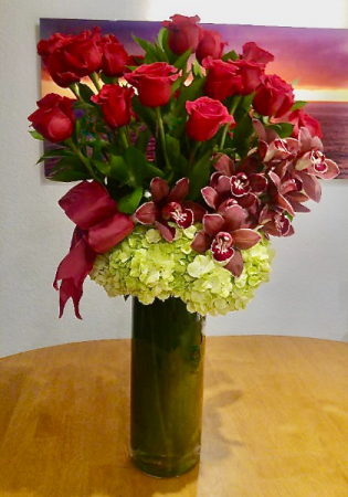 Majestic Two Dozen  Rose Arrangement