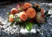 Orange Sorbet Arrangement
