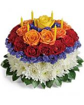Make a Wish with Candles & Cake Floral Bouquet