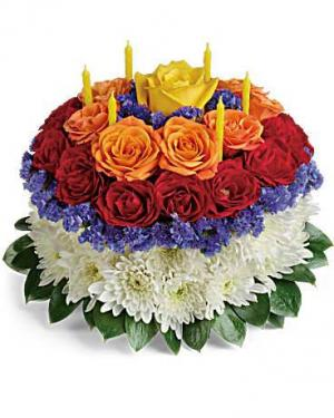 Make a Wish with Candles & Cake Floral Bouquet in Whitesboro, NY | KOWALSKI FLOWERS INC.