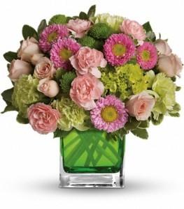 Make Her Day Bouquet Cube Arrangement