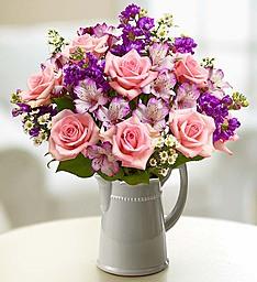 Make Their Day Bouquet In Keepsake Ceramic Pitcher