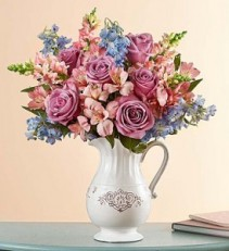 "Make Their Day Bouquet In Keepsake ""Charlotte"" Vase"