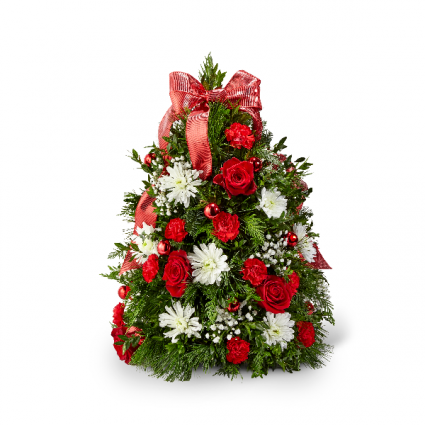 Make it Merry Tree Holiday arrangement