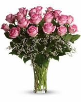 Make Me Blush-18 Long Stemmed Pink Roses