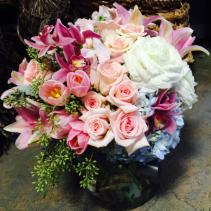 Make Me Blush Bouquet Vased Arrangement