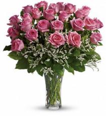 Make Me Blush  Dozen Pink Rose vase