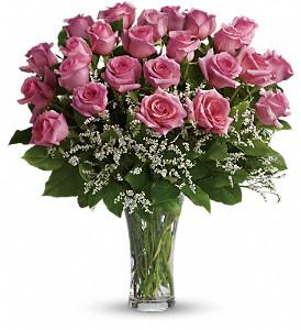 Make Me Blush  18 Pink  Roses vase