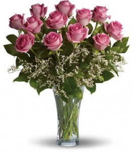 Make Me Blush Dz Pink Roses  T4-1A in Hesperia, CA | ACACIA'S COUNTRY FLORIST