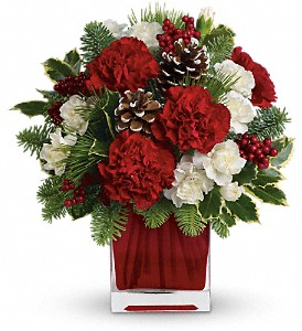 Christmas Flower Arrangements.Fair Hill Florist