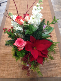 Make the Season Bright Vase Arrangement