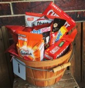 Man Junk Food Basket