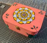 Hand Painted Mandala Jewelry and Keepsake Box