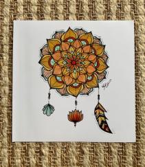Mandala Print framed