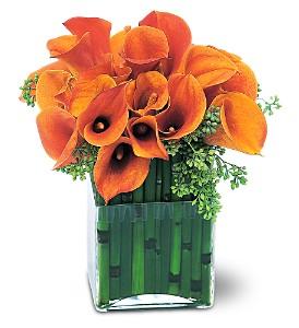 Mango Calla Surprise Vase Arrangement