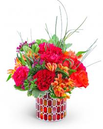 Mango Mosaic Flower Arrangement
