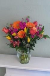 Mango Sorbet    Bold Gerberas, Tulips, Stock & Alstromeria