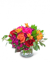Mango Sunrise Flower Arrangement