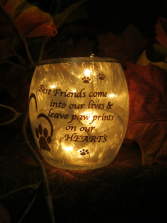 Man's best friend sympathy light  gift