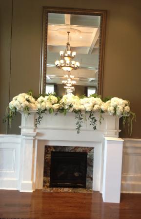 Mantel decorations  Wedding or reception