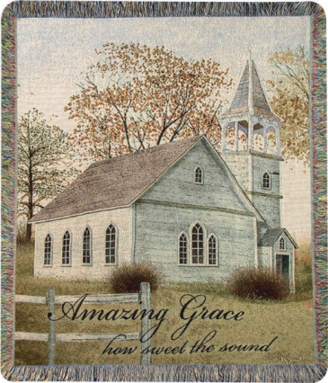 "Amazing Grace - ATAGRE Manual 50x60"" Tapestry Throw"