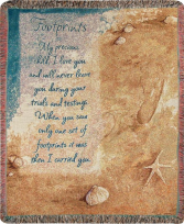 Manual 50x60-inch Tapestry Throw - Footprints