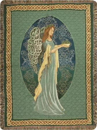 Manual 50x60-inch Tapestry Throw - Irish Angel