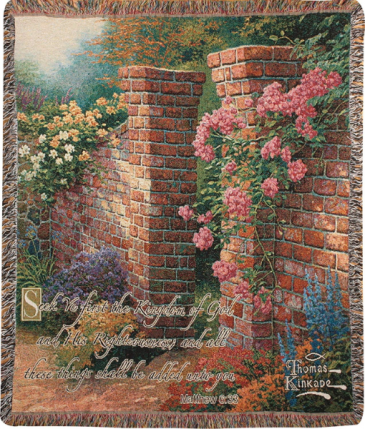 Manual 50x60-inch Tapestry Throw - Rose Garden