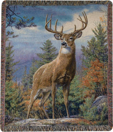 "Standing Proud Manual 50x60"" Tapestry Throw"