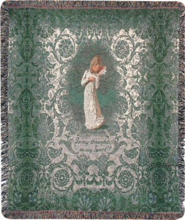 Willow Tree Thinking of You Manual 50x60-inch Tapestry Throw