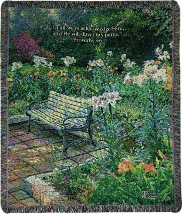 "Eternal Springtime Manual 50x60"" Tapestry Throw"